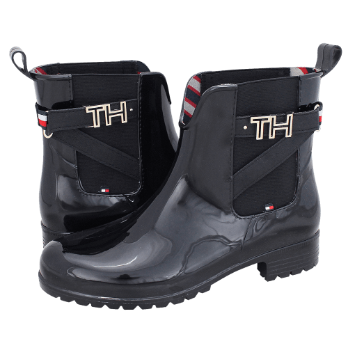 Tommy Hilfiger TH Hardware Rubber Bootie rainboots