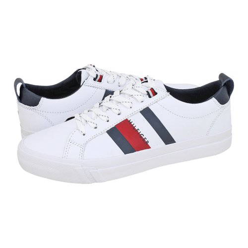 Tommy Hilfiger Flag Detail Leather Sneaker casual shoes