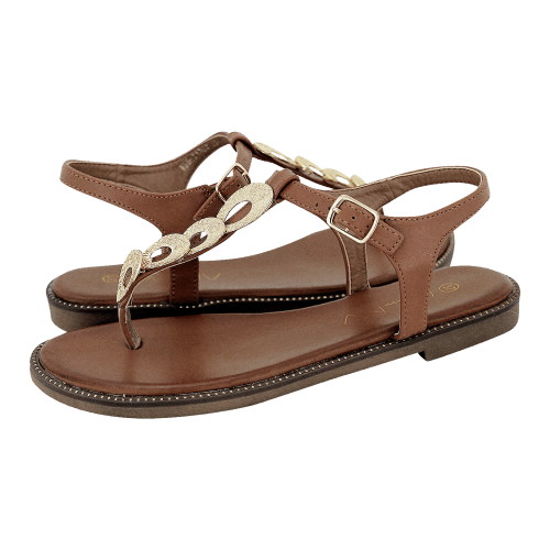 Miss NV Nailsea flat sandals