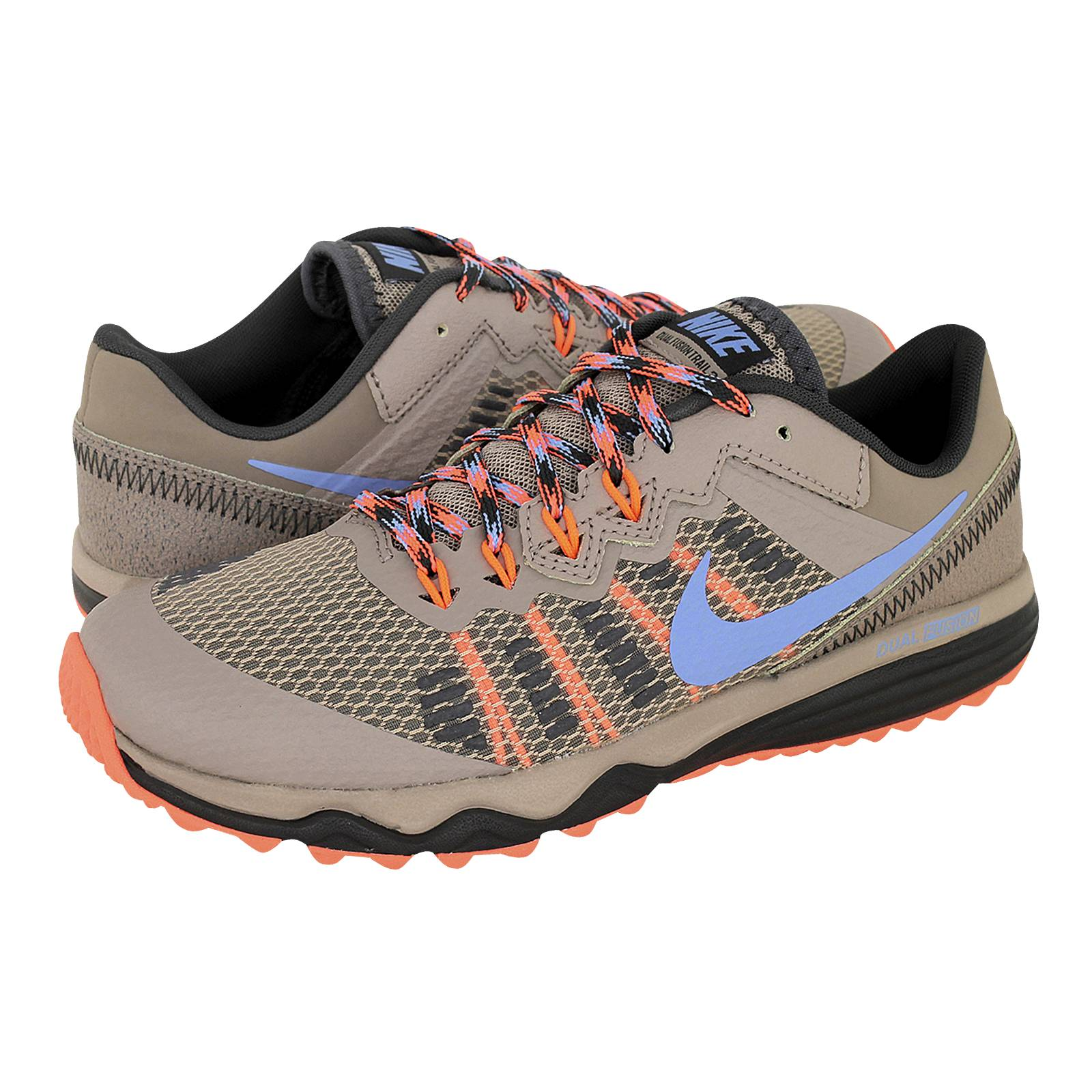Prisión foro cantidad  Dual Fusion Trail 2 - Nike Women's athletic shoes made of leather, fabric  and synthetic - Gianna Kazakou Online