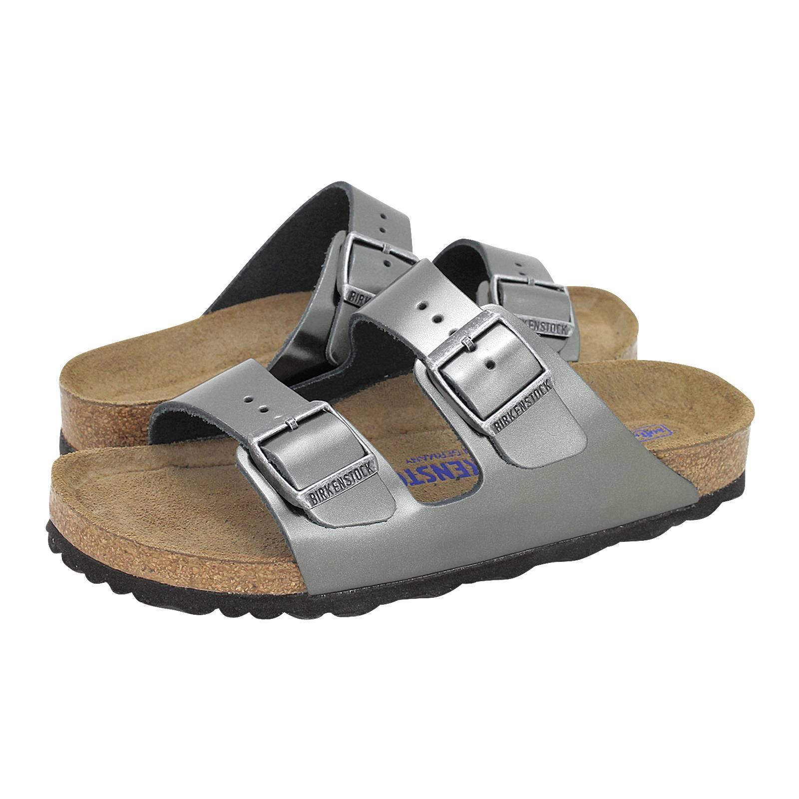 90991a5230a Arizona BS - Birkenstock Women s flat sandals made of metallic ...