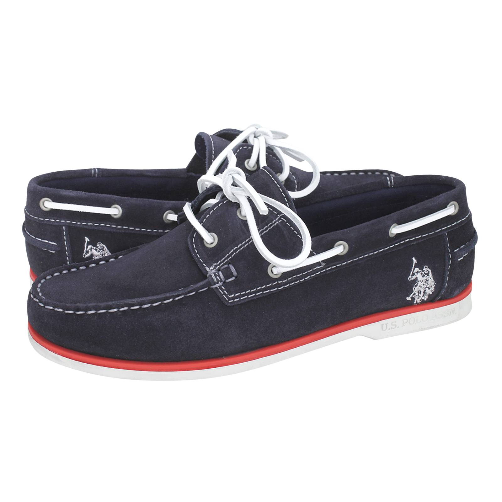 U.S. Polo ASSN Men's boat shoes made of