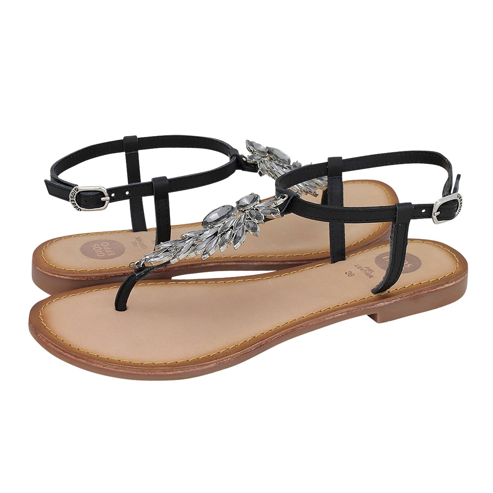 e3335f9b16fecc Nazna - Gioseppo Women s flat sandals made of leather - Gianna ...