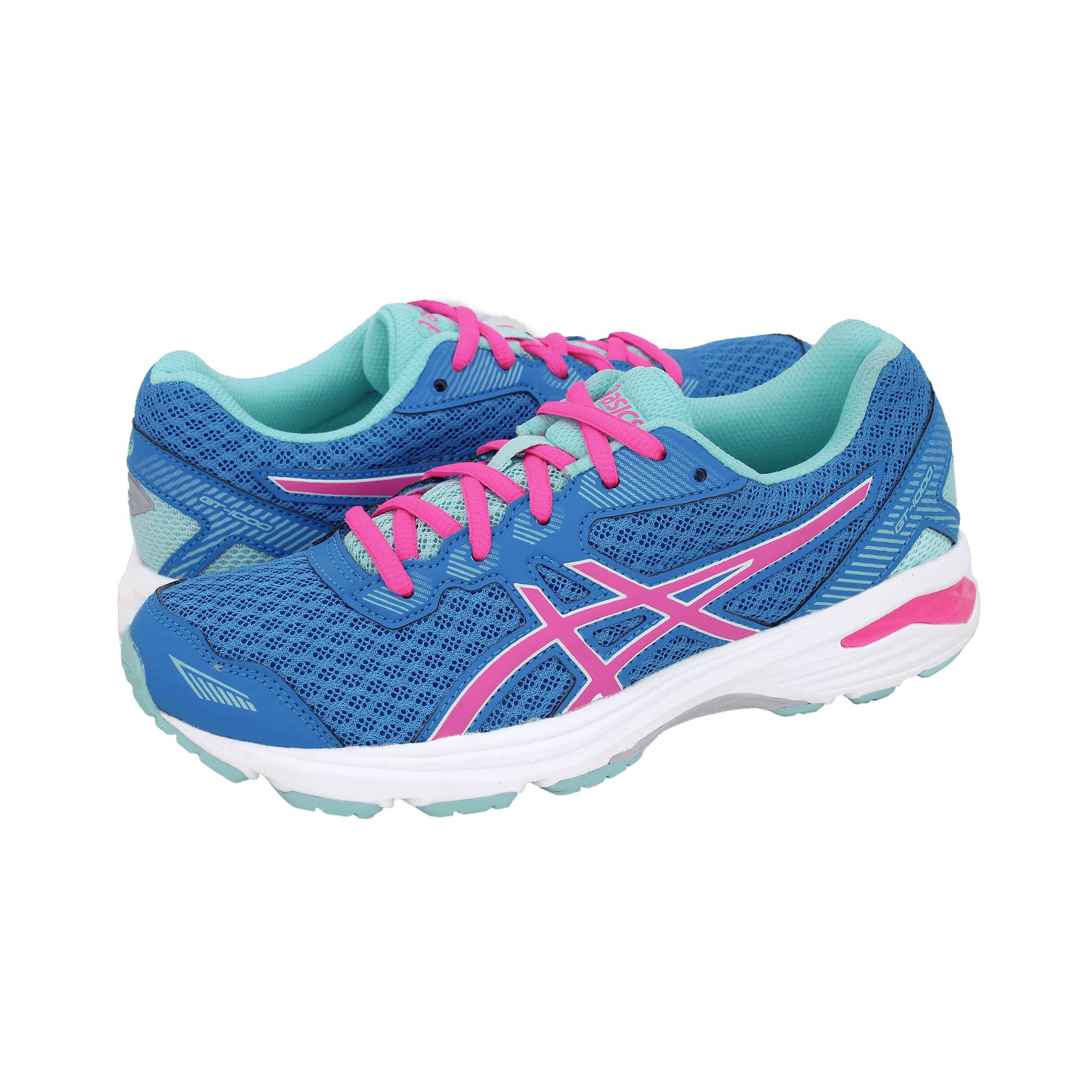 Excerpt peach knot  GT-1000 5 GS - Asics Athletic kids' shoes made of fabric and synthetic  leather - Gianna Kazakou Online