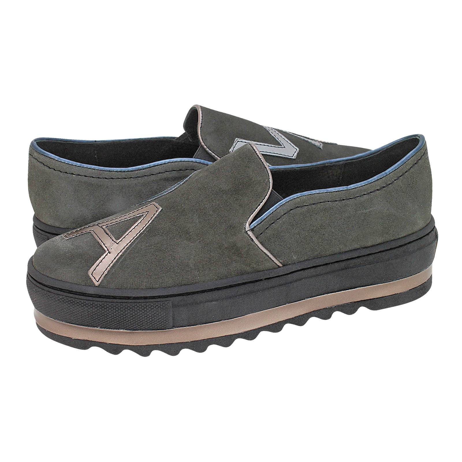 Clarbec - Esthissis Women s casual shoes made of suede and leather ... 8526868570f