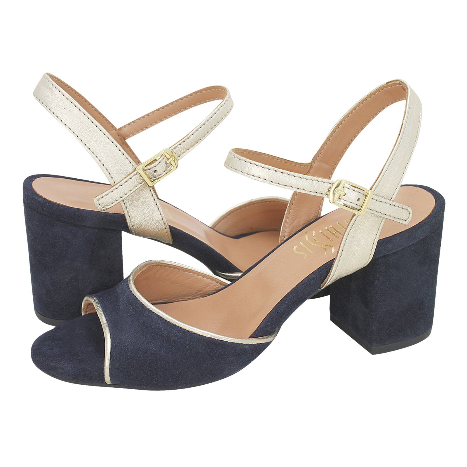 Senaud - Esthissis Women s sandals made of suede and leather ... cf066d8f381