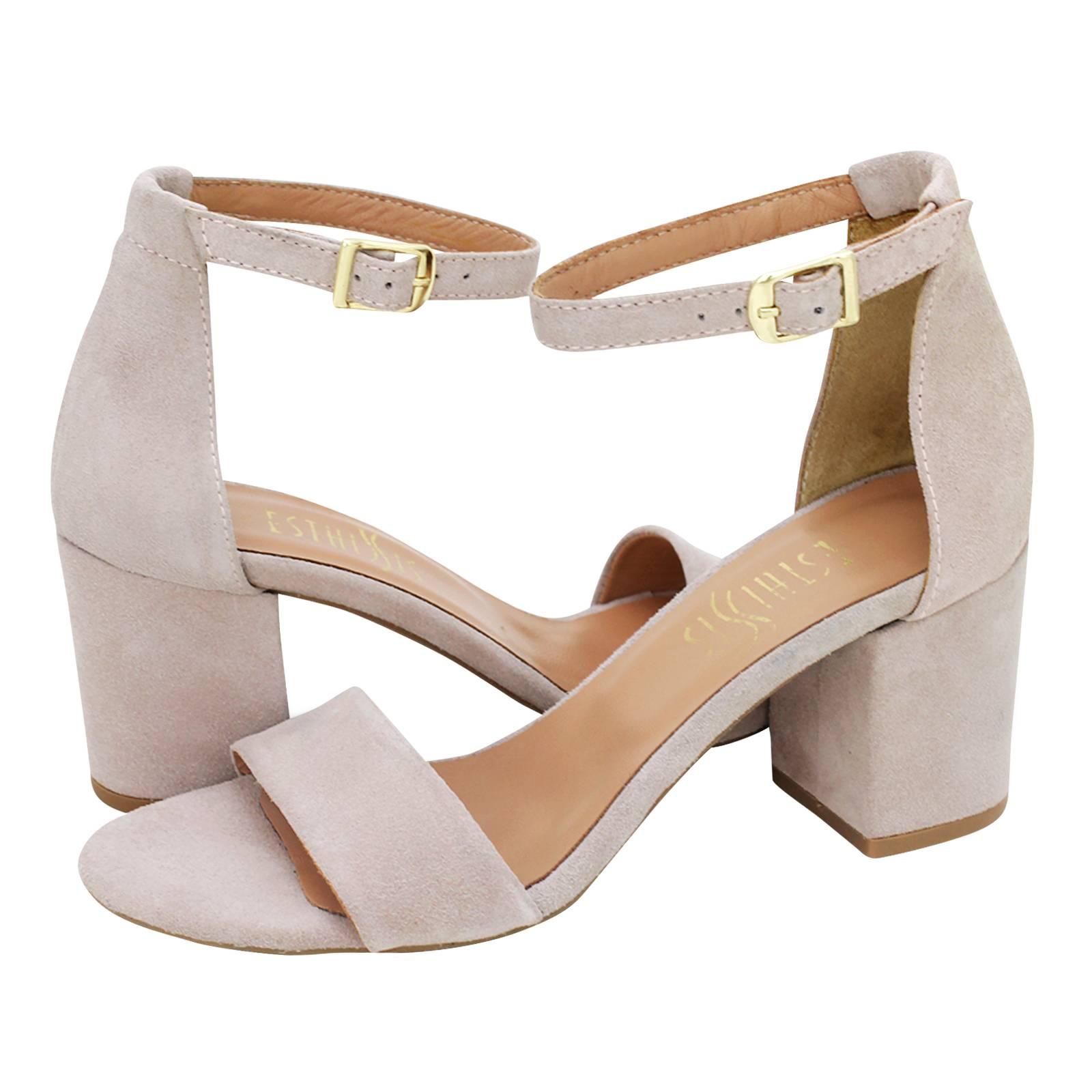Shin - Esthissis Women s sandals made of suede - Gianna Kazakou Online 6b67d69178b