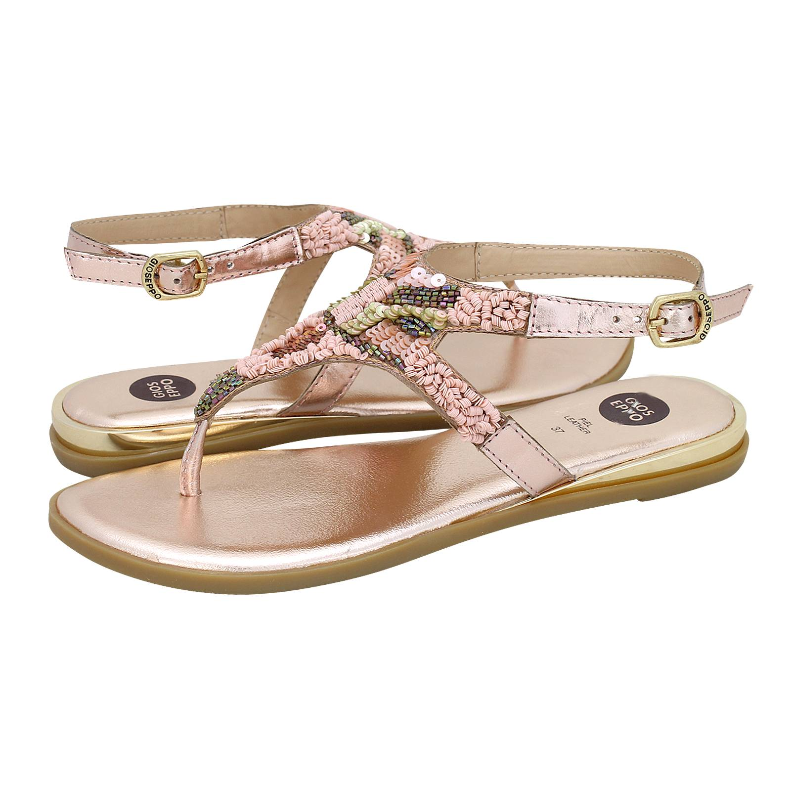 38c715dab006e4 Niedzwiady - Gioseppo Women s flat sandals made of leather and ...