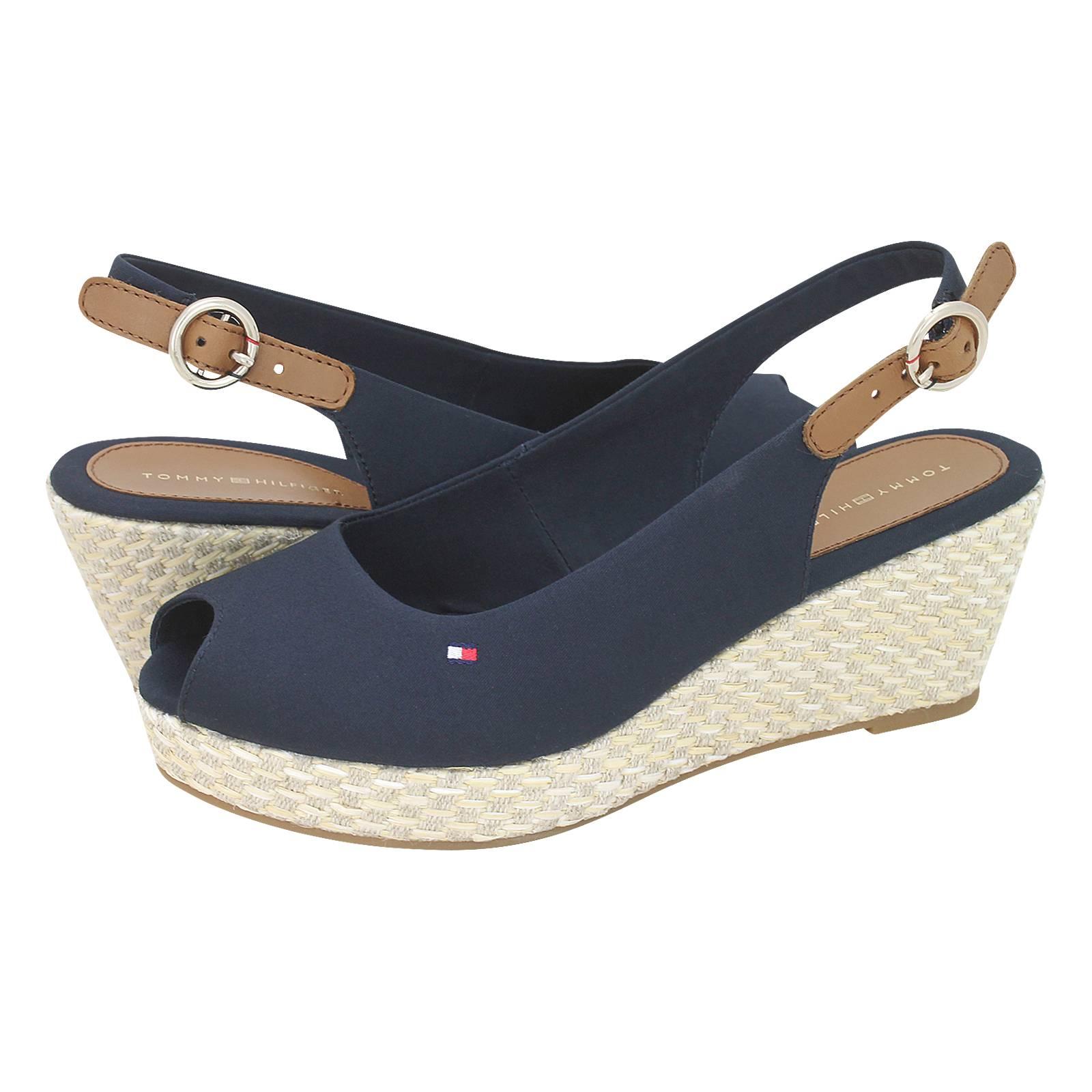 Tommy Hilfiger ICONIC ELBA BASIC SLING BACK - Platform sandals - black imJ9O0b