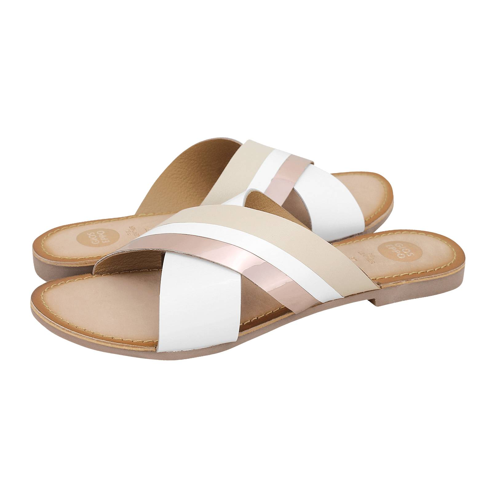 79f65df49420d1 Norken - Gioseppo Women s flat sandals made of leather and patent ...