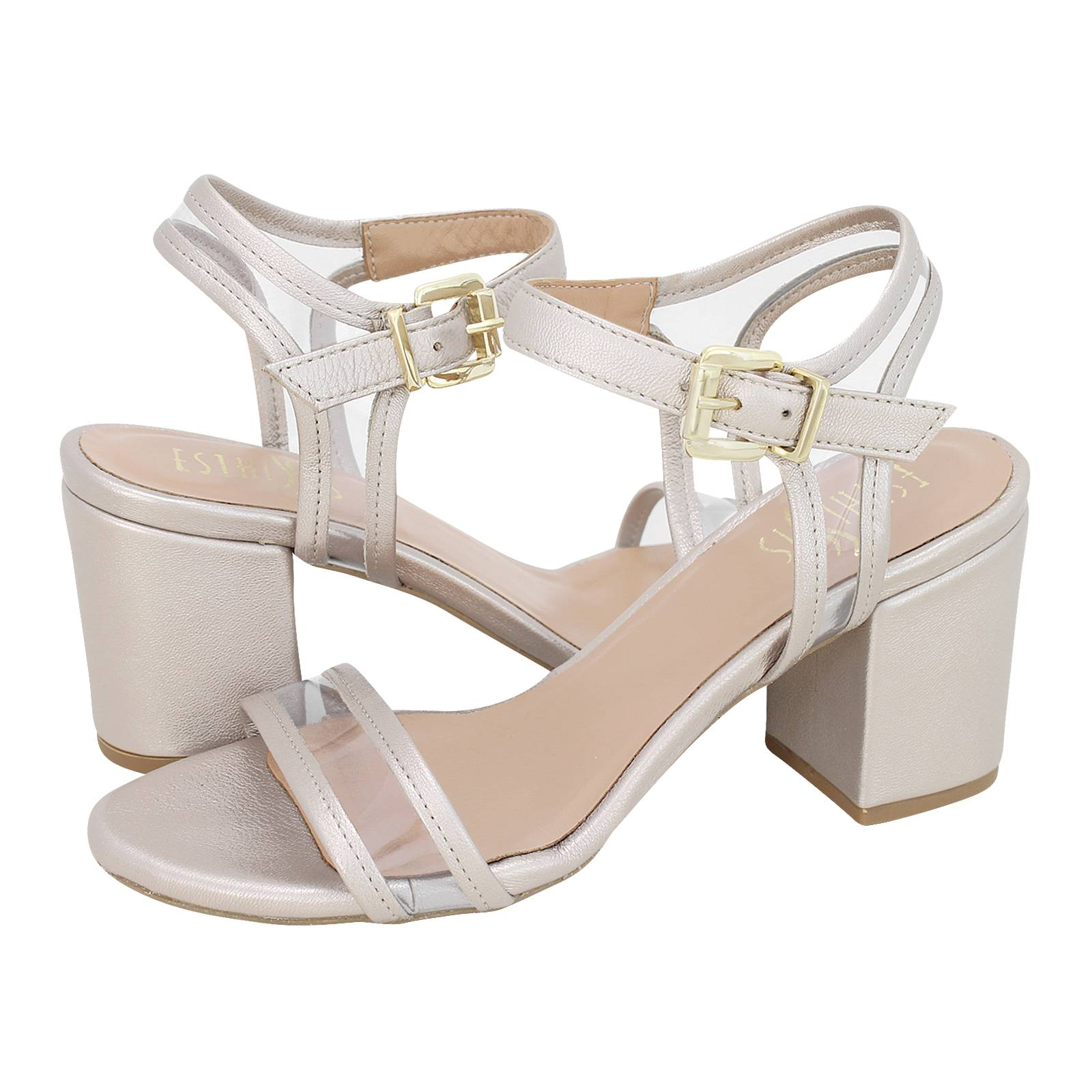 Sonnino - Esthissis Women s sandals made of metallic leather ... fa1800c3e0f