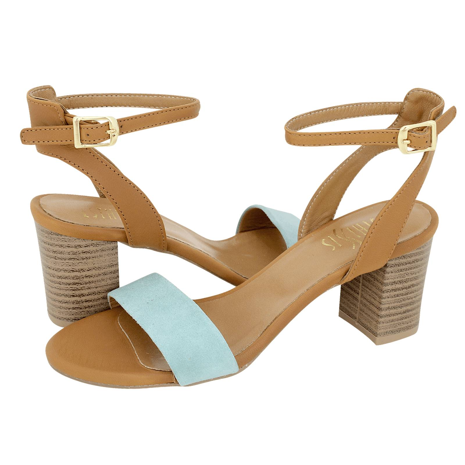 Stadil - Esthissis Women s sandals made of suede and leather ... 4de8ed71a0a
