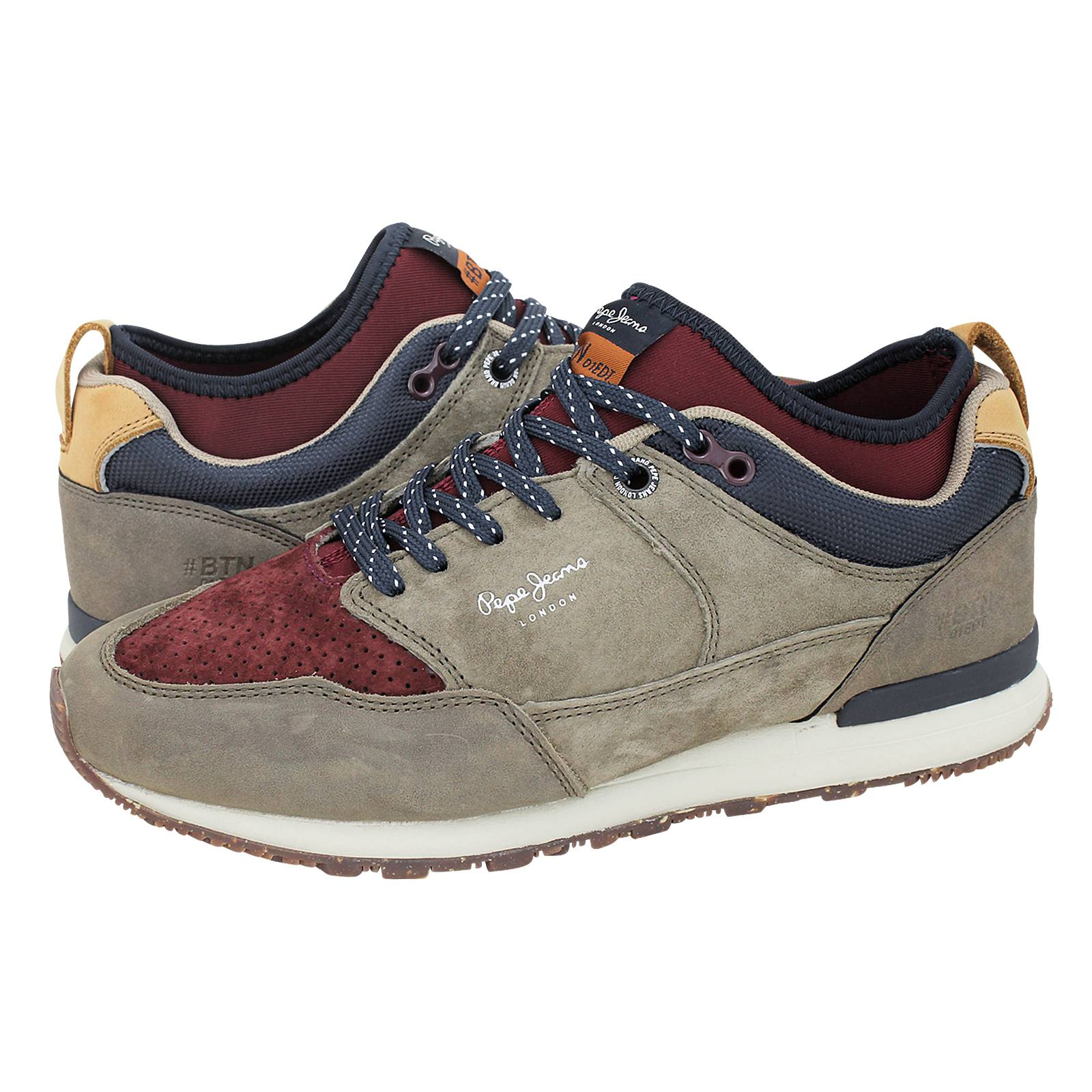bc29865489b BTN Treck Lth Pack - Pepe Jeans Men s casual shoes made of suede ...