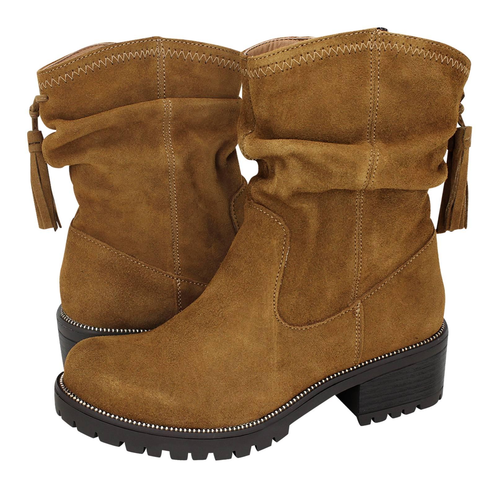 Tupigny - Esthissis Women s low boots made of suede - Gianna Kazakou ... bb65ed17ef6