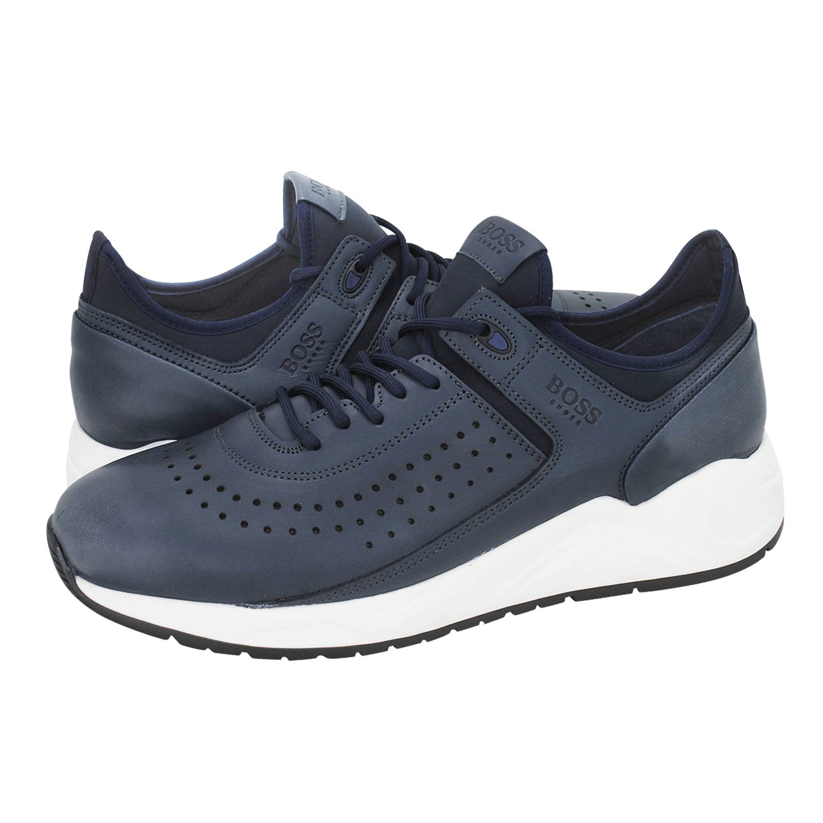 555ddf42e Cerasa - Boss Men's casual shoes made of leather and stretching - Gianna  Kazakou Online