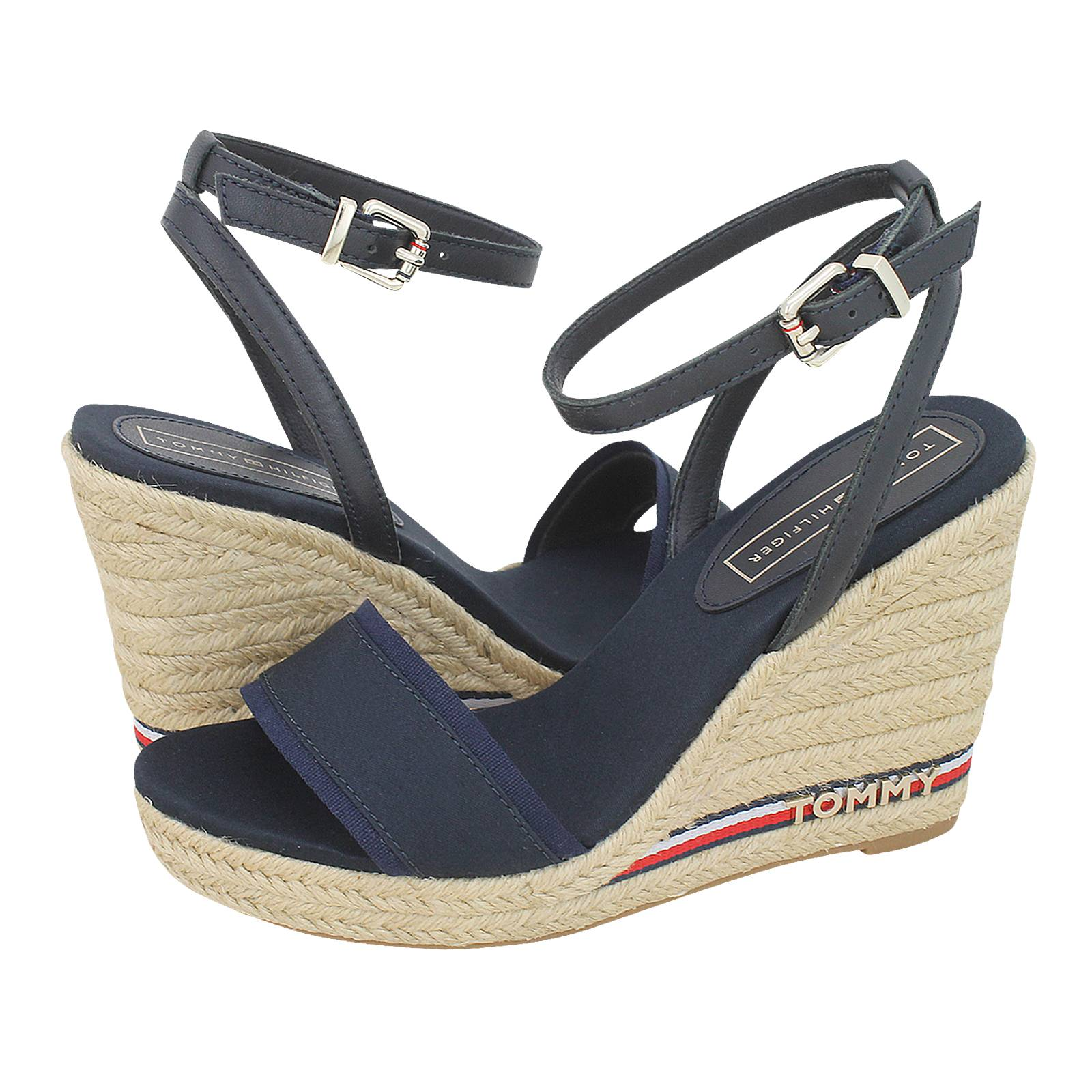 9e693ec63 Iconic Elena Corporate Ribbon - Tommy Hilfiger Women s platforms made of  fabric and leather - Gianna Kazakou Online